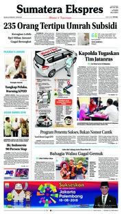 Cover Sumatera Ekspres 20 Februari 2018