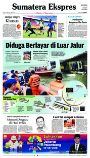 Cover Sumatera Ekspres 21 Februari 2018
