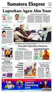 Cover Sumatera Ekspres 22 Februari 2018
