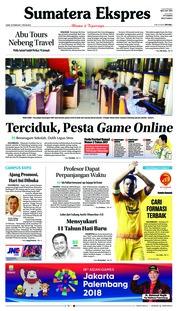 Cover Sumatera Ekspres 23 Februari 2018