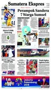 Cover Sumatera Ekspres 25 Februari 2018