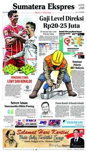 Cover Sumatera Ekspres 25 April 2018