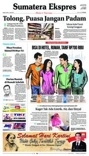 Cover Sumatera Ekspres 26 April 2018