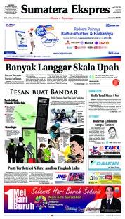 Cover Sumatera Ekspres 30 April 2018