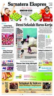 Cover Sumatera Ekspres 02 Mei 2018