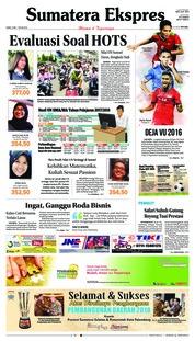 Cover Sumatera Ekspres 03 Mei 2018