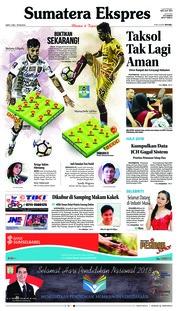 Cover Sumatera Ekspres 05 Mei 2018