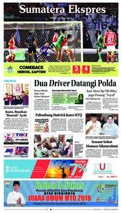 Cover Sumatera Ekspres 06 Mei 2018