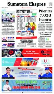 Cover Sumatera Ekspres 07 Mei 2018