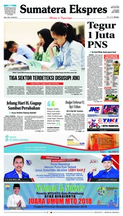 Cover Sumatera Ekspres 09 Mei 2018
