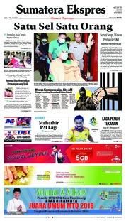 Cover Sumatera Ekspres 11 Mei 2018