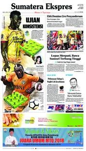 Cover Sumatera Ekspres 12 Mei 2018
