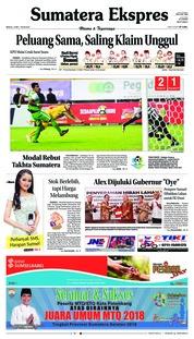 Cover Sumatera Ekspres 13 Mei 2018