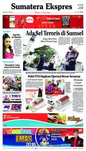 Cover Sumatera Ekspres 14 Mei 2018