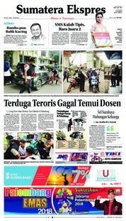 Cover Sumatera Ekspres 15 Mei 2018