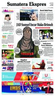 Cover Sumatera Ekspres 16 Mei 2018