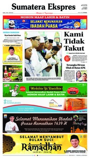 Cover Sumatera Ekspres 17 Mei 2018