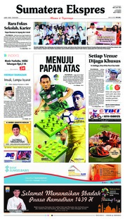 Cover Sumatera Ekspres 18 Mei 2018