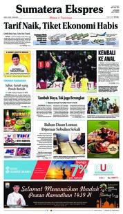 Cover Sumatera Ekspres 19 Mei 2018