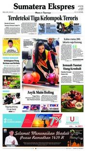 Cover Sumatera Ekspres 20 Mei 2018
