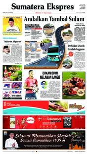 Cover Sumatera Ekspres 21 Mei 2018