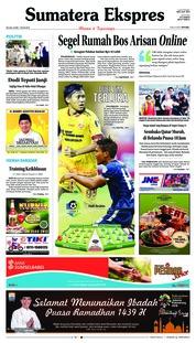 Cover Sumatera Ekspres 22 Mei 2018