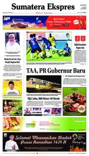 Cover Sumatera Ekspres 23 Mei 2018