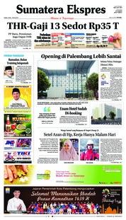 Cover Sumatera Ekspres 24 Mei 2018