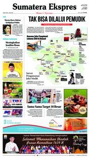 Cover Sumatera Ekspres 25 Mei 2018