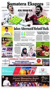 Cover Sumatera Ekspres 26 Mei 2018