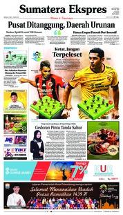 Cover Sumatera Ekspres 27 Mei 2018