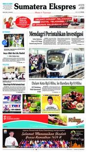 Cover Sumatera Ekspres 28 Mei 2018