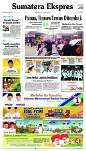 Cover Sumatera Ekspres 13 Juni 2018