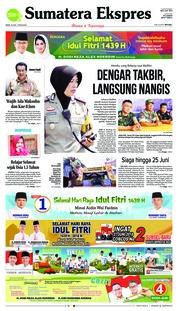 Cover Sumatera Ekspres 14 Juni 2018