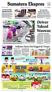 Cover Sumatera Ekspres 19 Juni 2018