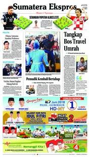 Cover Sumatera Ekspres 21 Juni 2018
