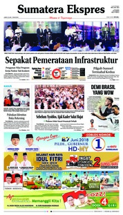 Cover Sumatera Ekspres 22 Juni 2018
