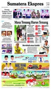 Cover Sumatera Ekspres 23 Juni 2018