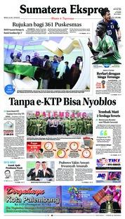 Cover Sumatera Ekspres 24 Juni 2018