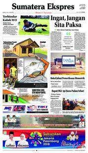 Cover Sumatera Ekspres 17 Juli 2018