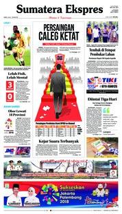 Cover Sumatera Ekspres 19 Juli 2018