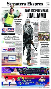 Cover Sumatera Ekspres 20 Juli 2018