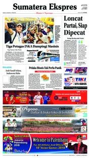 Cover Sumatera Ekspres 14 Agustus 2018