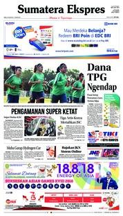 Cover Sumatera Ekspres 15 Agustus 2018