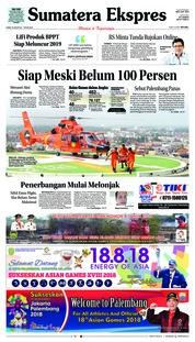 Cover Sumatera Ekspres 16 Agustus 2018