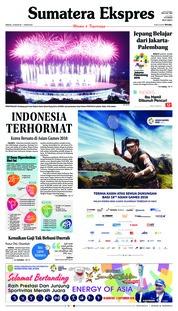 Cover Sumatera Ekspres 19 Agustus 2018