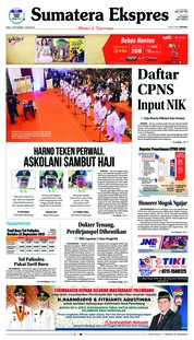 Cover Sumatera Ekspres 19 September 2018