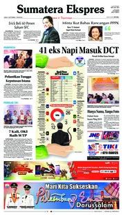 Cover Sumatera Ekspres 21 September 2018