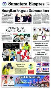 Cover Sumatera Ekspres 22 September 2018