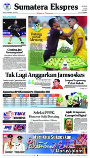 Cover Sumatera Ekspres 23 September 2018